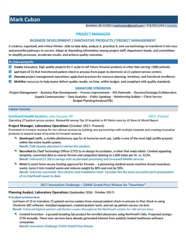 Project Manager Healthcare - After (Click to Zoom)